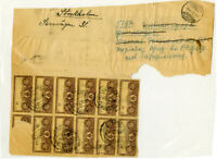 Russia Moscow Portion Of Package Wrapper Fiscal Stamps