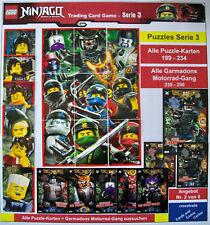 LEGO NINJAGO TRADING CARD SERIE 3 alle Karten MOTORRAD-GANG + PUZZLES 199 - 250