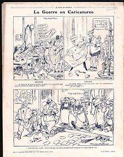 WWI Caricature Guerre espions espionnage Coiffeur Téléphone 1916 ILLUSTRATION