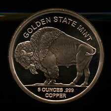 Golden State Mint 5 oz AVDP Proof .999 Copper Buffalo American Indian Round