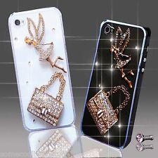NEW 3D DELUX BLING DIAMANTE ANGEL TINKERBELL HANDBAG CASE VARIOUS MOBILE PHONES