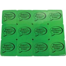 "Magnetic Whiteboard Eraser, Lime, 2"" x 2"" 3/Pack"