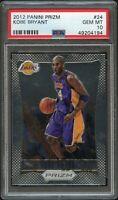 2012-13 Panini Prizm #24 Kobe Bryant PSA 10 Gem Mint LA Lakers HOF