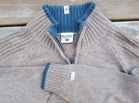 COLUMBIA Knit 1/4 Zip Sweater Pullover Jumper Brown Sz Medium