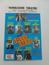 More details for allo allo gorden kaye carmen silvera & full cast signed wimbledon theatre poster