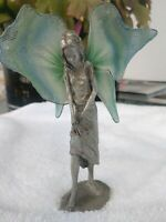 Antique fairy Art. Nouveau  Metal  Galle