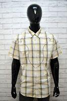 Camicia Uomo GUESS Taglia 52 Camicetta a Quadri Manica Corta Maglia Shirt Man