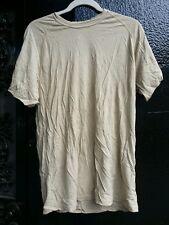 Wool Tshirt Fire & Odor Resistant Biege Size Medium - 2nd quality