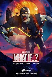 What IF NEW TV animated 2021 Series Captain America DECAL Poster Spider Zombies