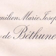 Maximilien Prince De Bethune et du Saint-Empire1887