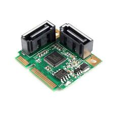 New Mini PCI-Express to 2 Ports SATA 3.0 III 6Gb/s Expansion Card Single Chip