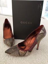 Gucci Python Patchwork Dress Pumps Size 9 168136