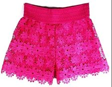 Pants Flowers Women Lady Shorts Lace Color Pink Fashion Gift Elastic Size L