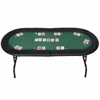 "73"" Folding Poker Table Tabletop Game Gambling Texas Table 8 Player"