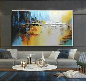"""AA146 Large abstract Landscape oil painting Hand-painted on canvas Unframed 60"""""""