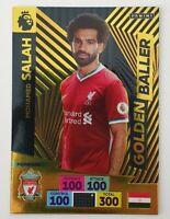 2020/21 PANINI Adrenalyn EPL Soccer Card - Golden Baller Mo Salah Liverpool