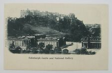Edinburgh Castle and National Gallery SCOTLAND Postcard United Kingdom Unposted