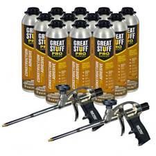 Dow Great Stuff Wall And Floor Adhesive 265 Oz Gun Foam 12 Cans Amp 2 Foam Guns