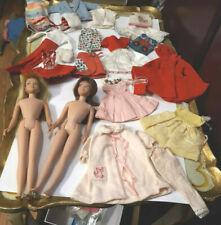 Vintage Barbie Str Leg Blonde Brunette Skipper Dolls Clothing Outfits Lot Tlc