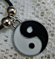ENAMELLED ~ PLATED  ~ YING_YANG ~  NECKLACE -- (GREAT_GIFT)