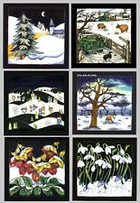 Moorcroft Christmas Cards - 6 different Cards