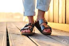 Birkenstock Arizona Metallic Anthracite Soft Footbed Women Size 37 EU/ 6-6.5 US