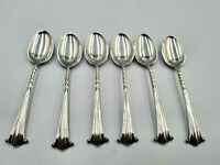 Antique  Set Of Six Silver Plated Teaspoons,Henry Wilkinson & Co