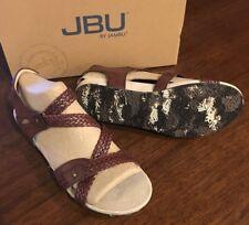 JAMBU Jbu Loreta Womens Braided Mahogany Brown Sandals Low Heels BRAND NEW 8.5