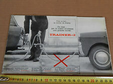DEPLIANT ORIGINALE TRAINER 2 BIANCHINA FIAT 600 CAVO TR. BROCHURE PROMO PROSPEKT
