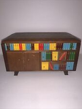 Unique Vintage Music Box Bookcase Tilso Japan Doesn't Play