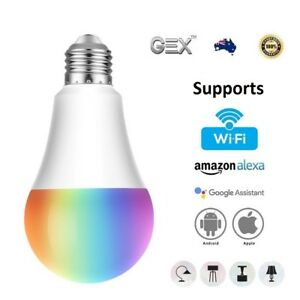Smart LED Light Bulb WiFi Wireless Colour Dimmable RGBW 7W E27 For Google Amazon