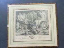 Gravure ancienne DE VOS / BOREL Les fleuves gravée par DE LONGUEILLE XVIIIe