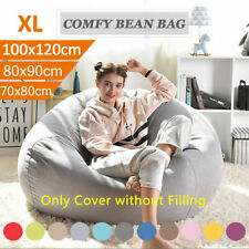 Bean Bag Chairs Couch Sofa Cover Lounger Reading Relaxing Seat Multi Colors Soft