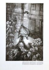 LEA GRUNDIG - 30 YEARS OF SED FALLING CHILD * RARE EAST GERMAN ART PRINT 1976