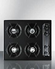 "Summit 24"" Cooktop with Four Burners & Gas Spark Ignition - Black"