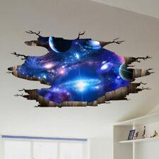 Universum 3D Galaxie Weltraum Wandtattoo Sticker Bodenaufkleber Decke Aufkleber