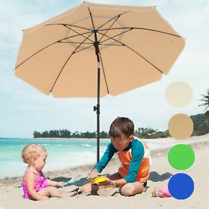 SONGMICS Sonnenschirm Gartenschirm für Strand Ø160cm / Ø200cm UV-Schutz knickbar