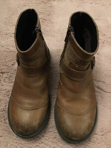 Boys Brown Tan Sturdy Leather Boots From M&S Size UK 2 (34)