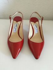 JIMMY CHOO LONDON PUMPS, ROT, LACKLEDER, GR. 38, NEU