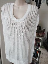 NWT - TOMMY BAHAMA ladies Kearny White pullover sweater Top - sz S - MSRP $98.00