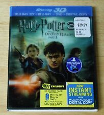 NEW!  HARRY POTTER AND THE DEATHLY HALLOWS PART 2 BLU RAY + DVD w/slipcover
