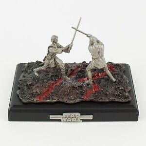 Obi-Wan vs. Anakin, Dual on Mustafar | Star Wars Diorama by Rawcliffe Pewter