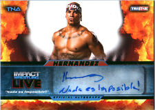 TNA Hernandez L15 2013 Impact Wrestling LIVE GREEN Autograph Card SN 17 of 50