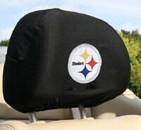 Pittsburgh Steelers Head Rest Covers for Car or Truck - Set of 2