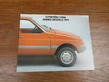 AUTOMOBILE BROCHURE CATALOG SALES CATALOGUE : CITROEN VISA ANNEE MODELE 1979