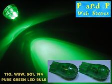 2x T10 W5W 194 501 Pure Green Led Bulb, Bright LED, Brand New!