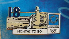 COUNTDOWN 18 MONTHS TO GO (ENGLISH) FORTRESS HERAKLION - ATHENS 2004 OLYMPIC PIN