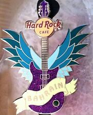 Hard Rock Cafe BAHRAIN 2011 Winged Purple Guitar PIN LE 100 - HRC Catalog #60024