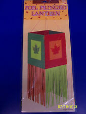 Autumn Leaves Thanksgiving Holiday Party Hanging Decoration Foil Fringed Lantern
