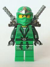 LEGO NINJAGO MINIFIGURE LLOYD ZX ARMOR SHAMSHIR SWORDS GREEN NINJA